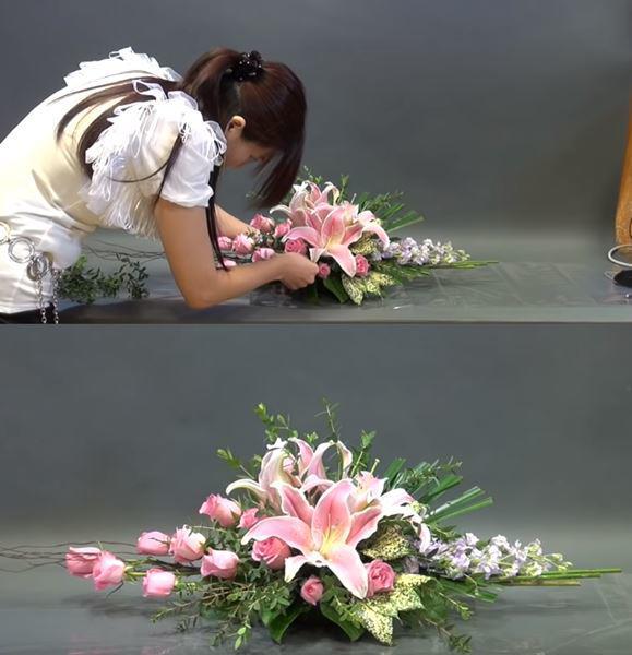 Cắm hoa ngang