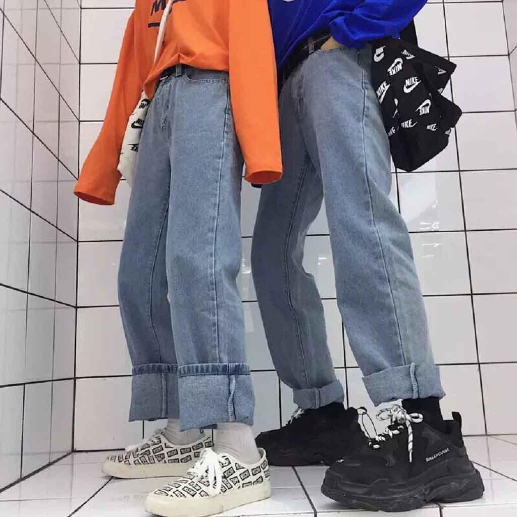 Quần culottes jean có thể phù hợp với cả nam lẫn nữ.