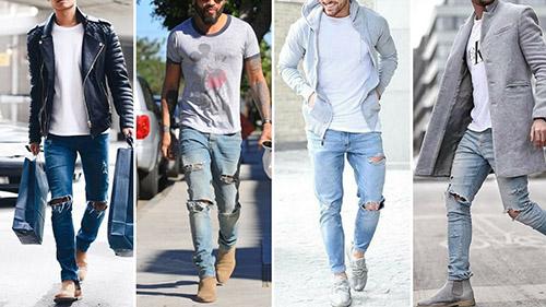 Quần jean rách cho những chàng trai thích phong cách bụi bặm