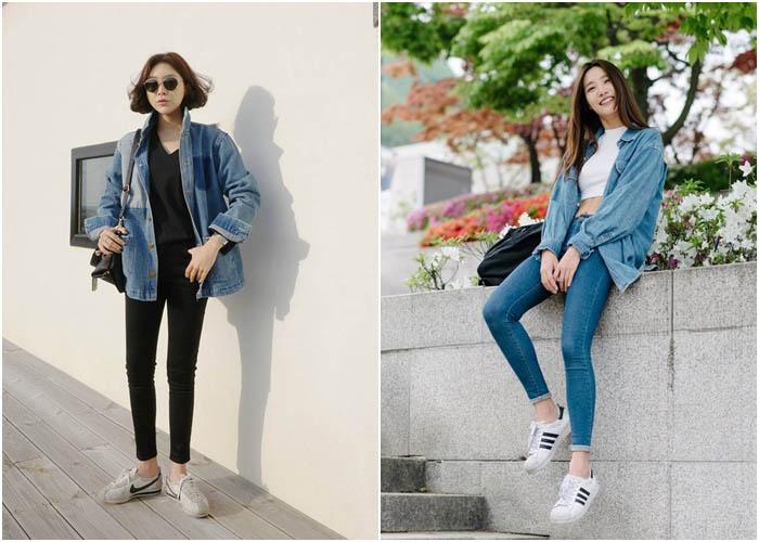 Mix skinny jean cho nữ