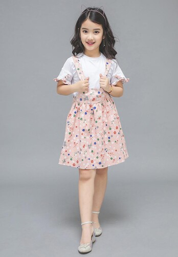 Đầm vải xinh xắn cho bé gái