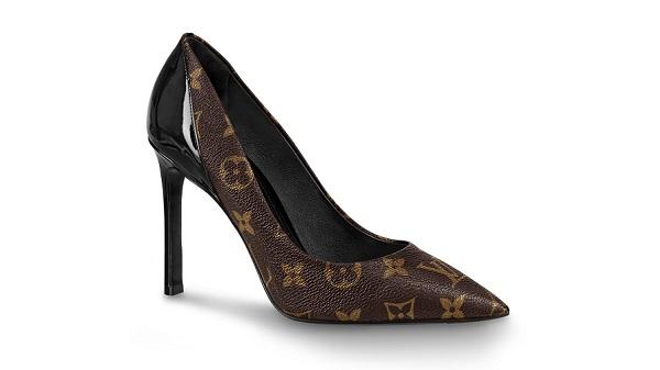 Louis Vuitton với thiết kế giày cao gót hoa văn logo đặc trưng